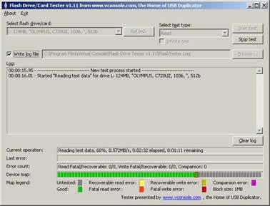 1 تحميل فلاش درايفر download Flash Drive Tester 1.14