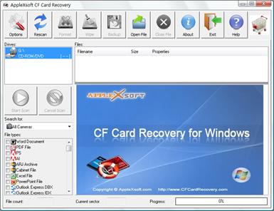 CF Card Recovery (infos et téléchargement)