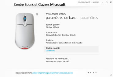 Microsoft Mouse and Keyboard Center (infos et téléchargement)