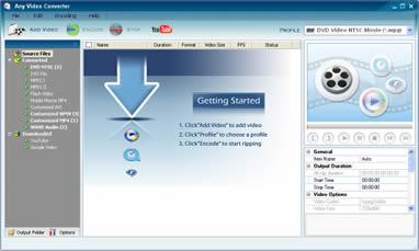 Any Video Converter (infos et téléchargement)
