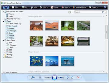 Windows Live Photo Gallery (free) download Windows version
