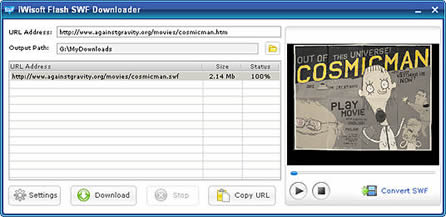 iWisoft Flash SWF Downloader (infos et téléchargement)