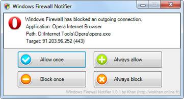 Windows Firewall Notifier (infos et téléchargement)