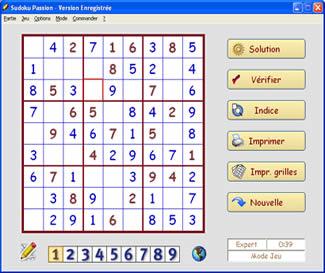 Sudoku Passion (infos et téléchargement)
