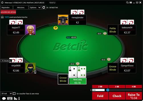 BetClic Poker (infos et téléchargement)