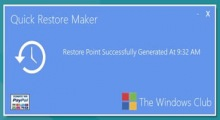 Quick Restore Point Maker