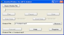 Audio/Video To MP3 Maker
